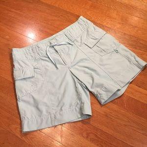 Athleta Mint blue cargo athletic hiking shorts